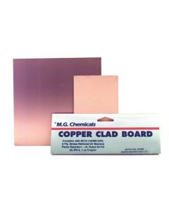"""MG Chemicals 500 Series Copper Clad Prototyping Board with 1 oz Copper, 1/16"""" Copper Thick, 1 Side, 12"""" Length x 12"""" Width, FR4"""