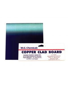 """MG Chemicals 600 Series Positive Presensitized Copper Clad Board with 1 oz Copper, 1/16"""" Copper Thick, 2 Side, 9"""" Length x 6"""" Width, FR4"""