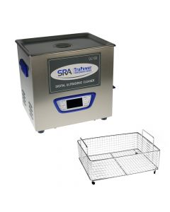 SRA TruPower UC-100D-PRO Professional Ultrasonic Cleaner, 10 liter Capacity with LCD Display,  Sweep/Degas,  Adjustable Power, Sleep Function,  Parts Basket