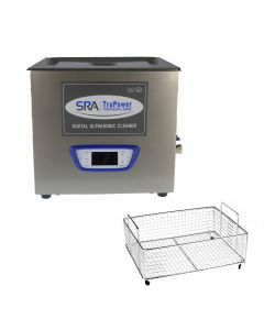 SRA TruPower UC-150D-PRO Professional Ultrasonic Cleaner, 15 liter Capacity with LCD Display,  Sweep/Degas,  Adjustable Power, Sleep Function,  Parts Basket